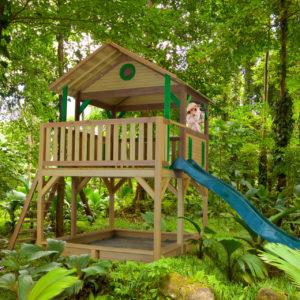 Kinderspielturm Simba auf Stelzen mit Rutsche