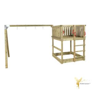 Woodinis Spielturm KIDS-PLAY S mit Schaukelgestell,natur